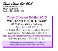 Westland Library Art Show Post Cardv5