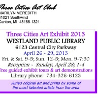 Westland Library Art Show Post Cardv5